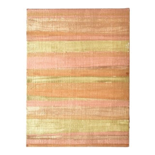 Contemporary Gold and Copper Gilt Abstract Painting For Sale