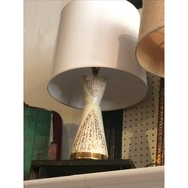 Vintage Cream & Gold Lamp - Image 5 of 6