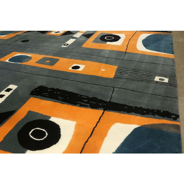 Hand Knotted Mid Century Rug - 8' X 10' - Image 3 of 5