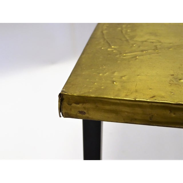 1960s MidCentury Modern Raymor Scandinavian Repousse Brass Coffee Table 1960s For Sale - Image 5 of 13