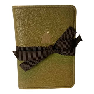 Charlotte Moss Decorating Notes Pagoda Leather Notebook For Sale
