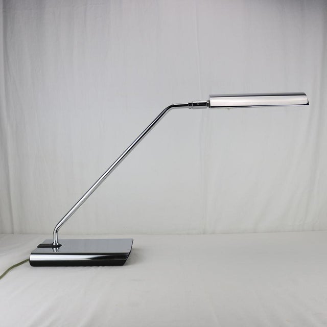 Koch & Lowy Chrome Articulated Desk Lamp 1970's - Image 11 of 11