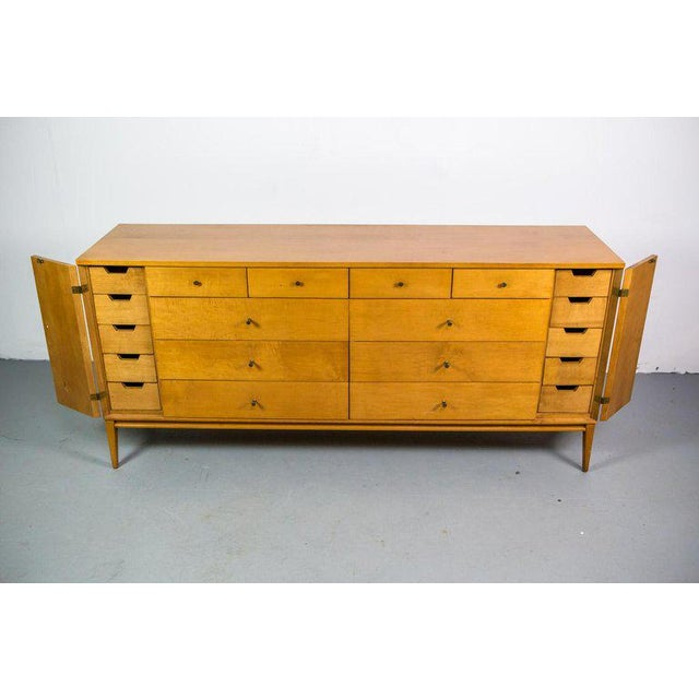 Planner Group for Winchendon Furniture. Designed and produced in the mid-1950s. Symmetrical drawer structure with four...