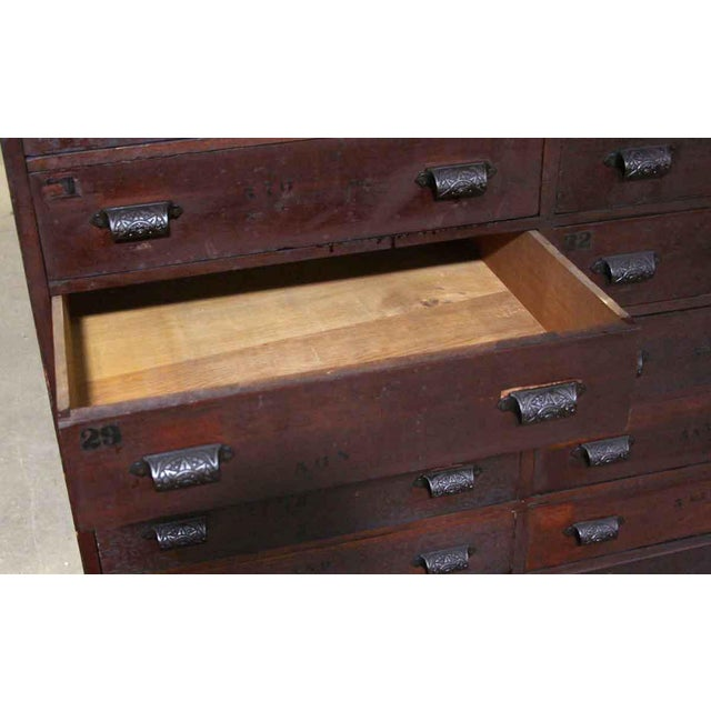 Mid 19th Century 19th Century Industrial Wooden Chest of 36 Drawers For Sale - Image 5 of 9