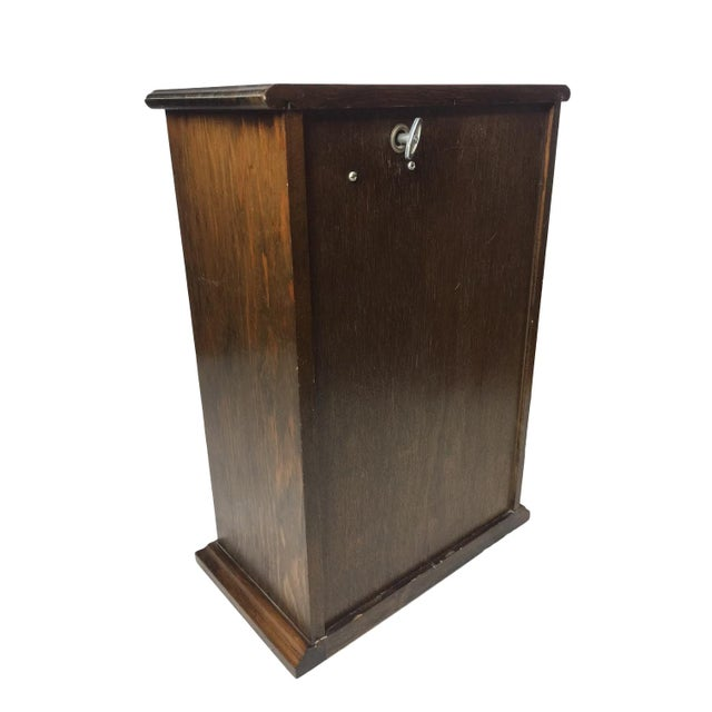 Vintage Wooden Jewelry Music Chest - Image 4 of 4