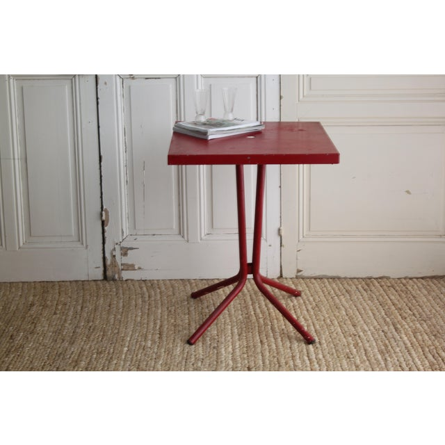 Vintage French Red Garden Table - Image 6 of 8