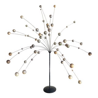 Laurids Lønborg Metallic Kinetic Ball Sculpture For Sale