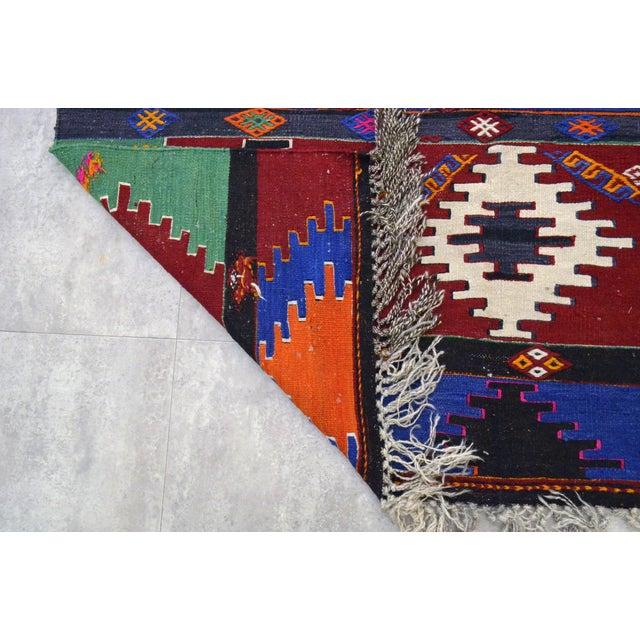 """Turkish Hand Woven Runner - 5'9"""" x 15'4"""" - Image 9 of 9"""