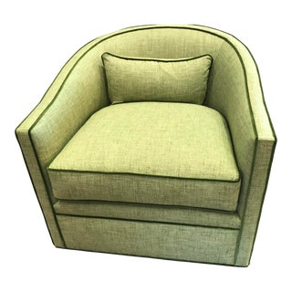 Highland House Green Swivel Chair For Sale