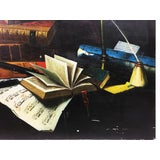 Image of Vintage Tromp Loiel Study Room Items Still Life Painting For Sale