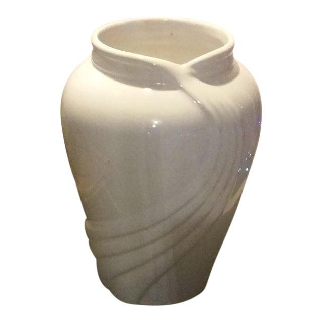 Vintage White Porcelain Vase - Image 1 of 5