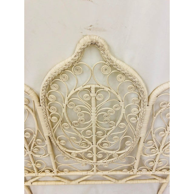 White Vintage Bohemian Butterfly Headboard For Sale - Image 8 of 9