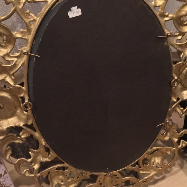 Antique Gold Mirror With Crystal Candles - Image 10 of 10