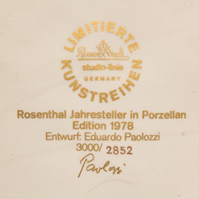 Eduardo Paolozzi Plaque for Rosenthal For Sale - Image 9 of 9