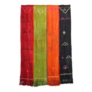 Antique Rug Jajim Turkish Hand Woven Primitive Kilim Area Rug Wall Rug - 4′2″ × 6′4″ For Sale