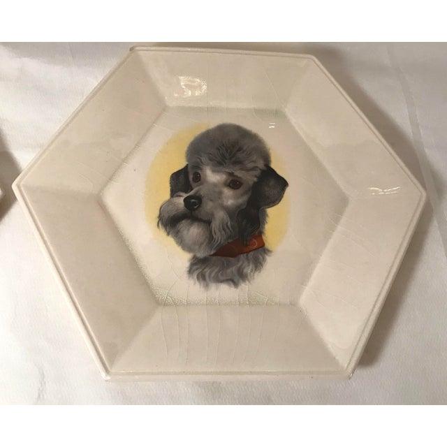 Vintage Ceramic Dog Plates - Set of 4 For Sale - Image 4 of 11