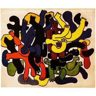 "1948 Fernand Léger, ""The Great Divers"" Original Period Parisian Lithograph For Sale"