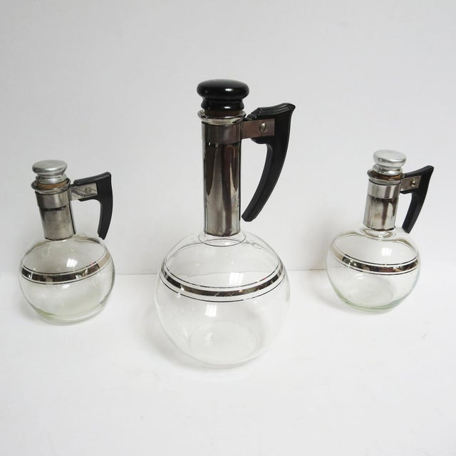 Art Deco Wine or Coffee Decanters Trio For Sale - Image 4 of 9