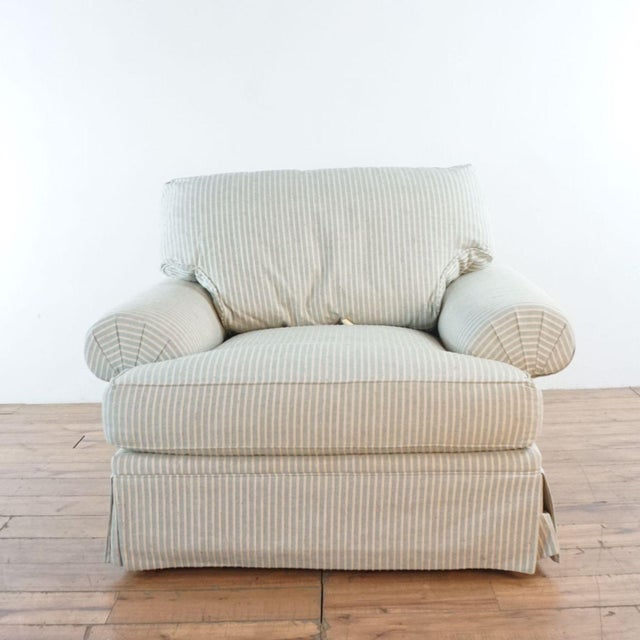 Contemporary Michael Thomas Armchairs and Ottoman- 3 Pieces For Sale - Image 3 of 13