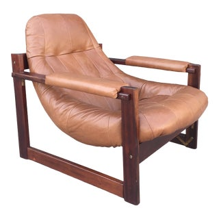 1970s Vintage Percival Lafer Brazilian Space Age Lounge Chair For Sale