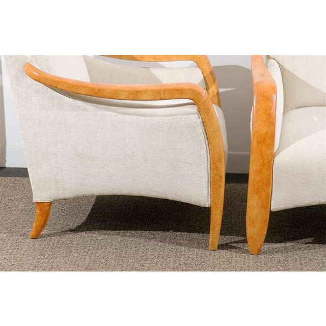 Jaw-Dropping Restored Pair of Modern Club Chairs For Sale - Image 4 of 11