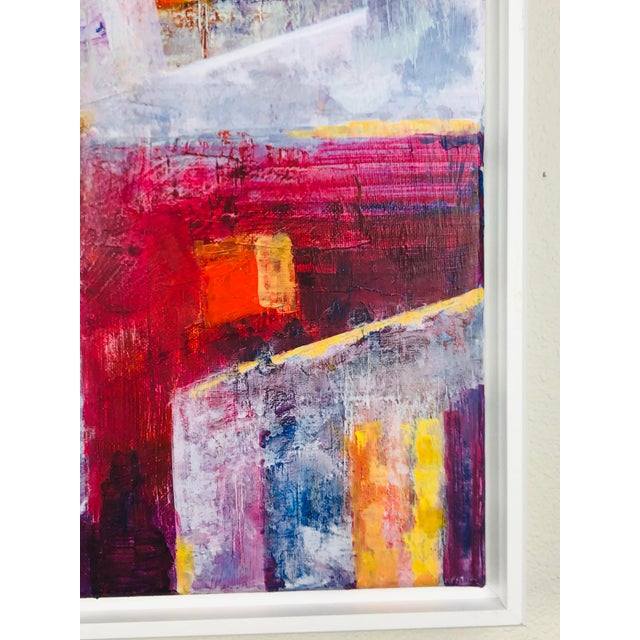 Contemporary Contemporary Abstract Acrylic Painting, Framed For Sale - Image 3 of 7