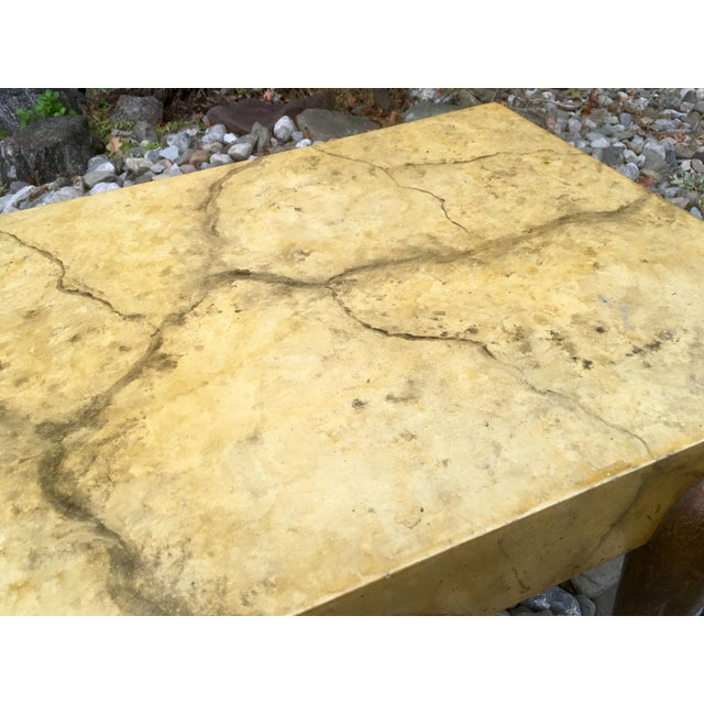 Mid Century Faux Marble Coffee Table - Image 4 of 7