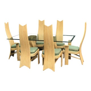 Mid-Century McGuire Style Bamboo Dining Set