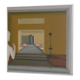 Mid 20th Century Surreal Interior Landscape by T. Decker C.1976 For Sale