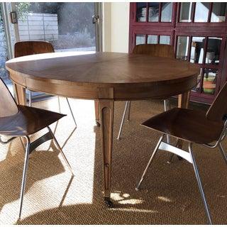 Vintage 1940s Art Nouveau Oak Wood Oval Table Preview