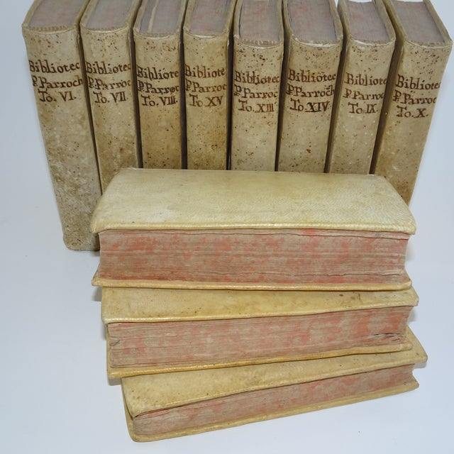 Mid 18th Century Vintage Traditional Vellum Books - Set of 11 Volumes For Sale - Image 5 of 7