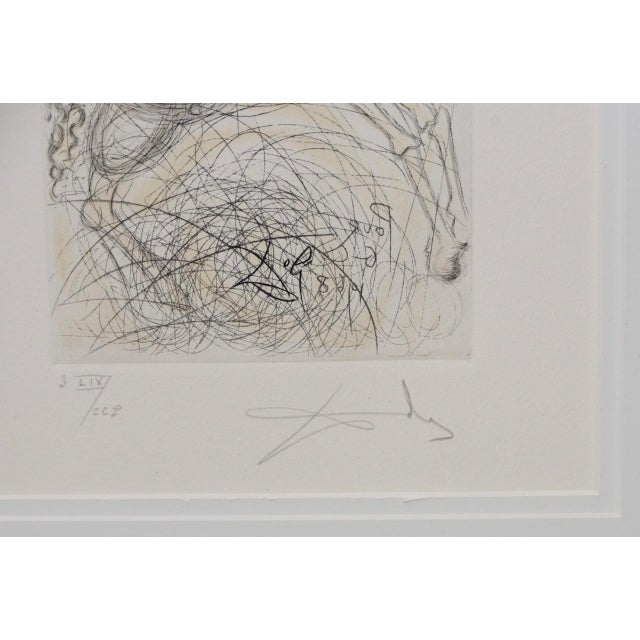 """1970s Salvador Dali """"Pegasus"""" Reverse Plate Signed Etching C.1970s For Sale - Image 5 of 8"""