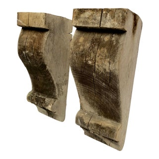 17th Century French Country Poplar Corbels - a Pair For Sale