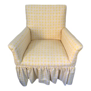 Skirted Yellow and Pink Children's Chair For Sale