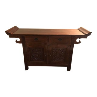 Balinese Teak Wood Hutch For Sale