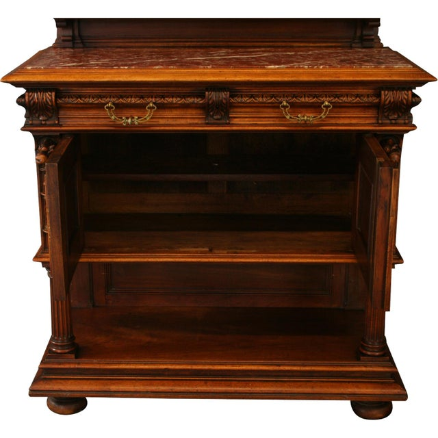 1900 French Renaissance Sideboard Server For Sale - Image 12 of 12