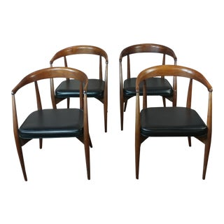 Mid-Century Modern Original 1960s Danish Teak Chairs -Set of 4