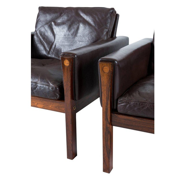 Wood Pair of Hans Wegner AP 62 Lounge Chairs For Sale - Image 7 of 10