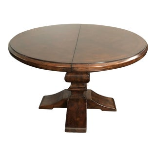 Round Trestle Dining Table With Parquet Top