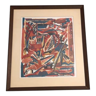 1970s Abstract Cityscape Serigraph For Sale