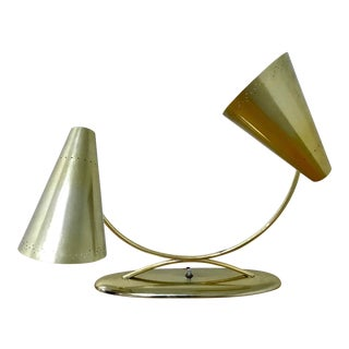 Laurel Lamp Company Vintage Mid-Century Modern Brass Table Lamp For Sale