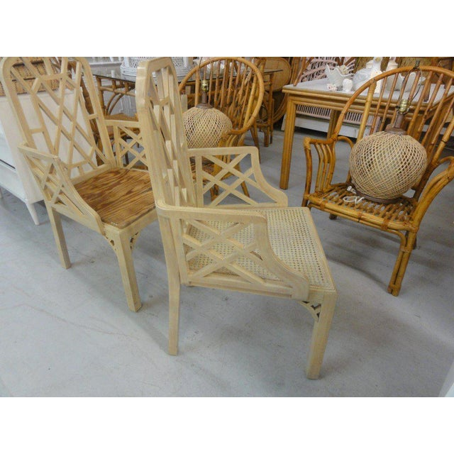 Palm Beach Regency Fretwork Chairs - Set of 6 - Image 5 of 11