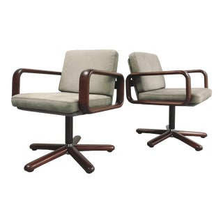 1970s Vintage Burkhard Vogtherr for Rosenthal Model Hombre Swivel Chairs - A Pair For Sale