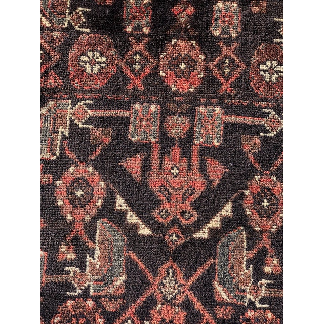 "Art Deco 70-Years-Old Persian Hamadan Runner - 3'4"" x 10'2"" For Sale - Image 3 of 11"
