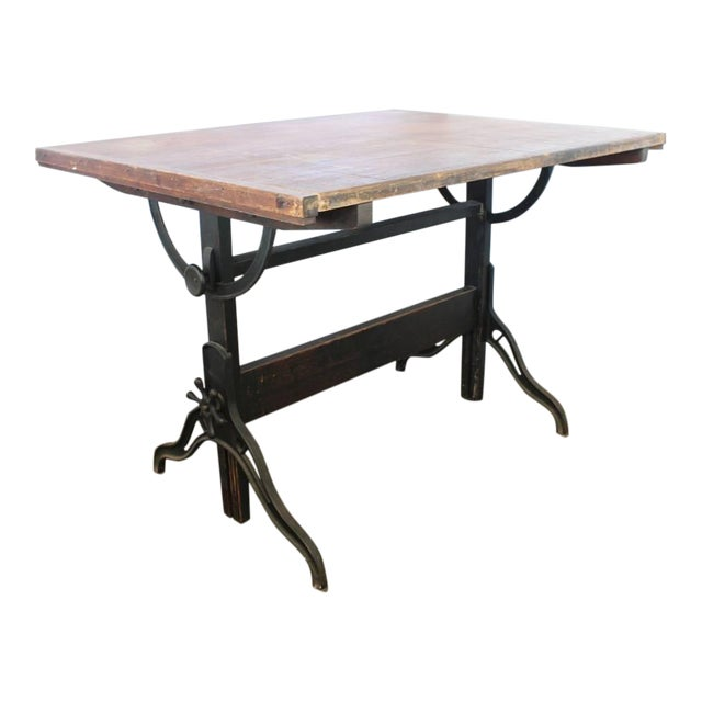 Early 20th C. Antique Dietzgen American Drafting Table For Sale