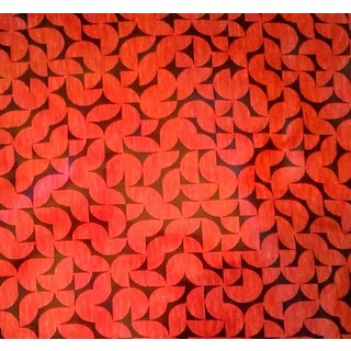 Vintage Indoor/Outdoor Coral Melon Vinyl Upholstry Fabric- 4 1/3 Yards