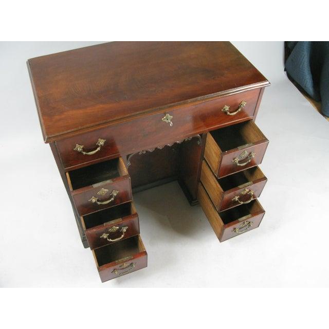 Georgian Antique 19th Century English Walnut Writing Desk For Sale - Image 3 of 7