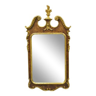 Decorative Crafts Inc. American Federal Parcel Gilt Wall Mirror For Sale