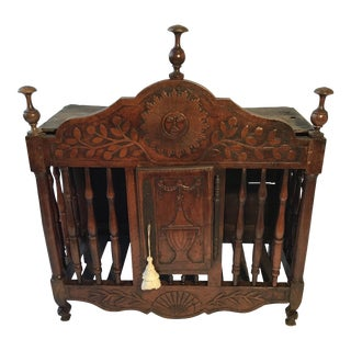 18th Century French Provençal Louis XV Walnut Panetiere For Sale