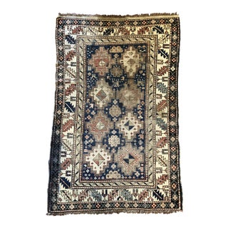 "Antique, Hand Knotted Caucasian Rug 39""x 61"" For Sale"